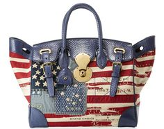 Ralph Lauren American Flag Ricky Bag Exclusively At Bergdorf Goodman