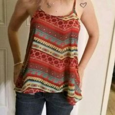 NABEE FLOWING TANK Beautiful soft flowing BOHO print Y back tank.  Nabee is the finest in clothing. NABEE Tops Tank Tops