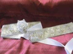 Silver bridal sash,white,sequin,zari work,rhinestones,cummerbund,bridesmaid belt
