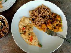 Soy Nuggets, Potato, & Peas Curry - Food, Pleasure, and Health