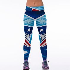 aff19ed4817ab5 New Women Sporting Fitness Legging American Footballs NFL Patriots Team Printed  Skinny Workout Leggings 12 Style in Stock