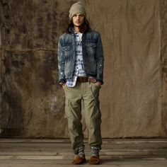 "ralph lauren's ""denim and supply"" *love the jacket and cargos*"