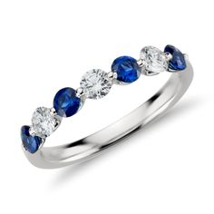 Classic Floating Sapphire and Diamond Ring Platinum (3/8 ct. tw.), Women's, Platinum Diamond Sapphire