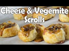 Deliciously Crunchy Cheese and Vegemite Scrolls