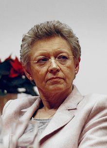Françoise Barré-Sinoussi-press descubrimiento del VIH.Junto a  Luc Montaigner