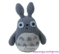 Grey Totoro crochet pattern