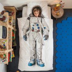 Snurk sängkläder - Astronaut | bäddset, påslakan, linens, duvet covers, bed