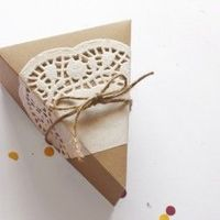 Make a paper box to hold a slice of pie or cake. Includes a free printable template.
