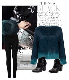 """""""Blue"""" by modreflectionblog on Polyvore featuring Marc Jacobs, Wolford, Bonbons and Unreal Fur"""