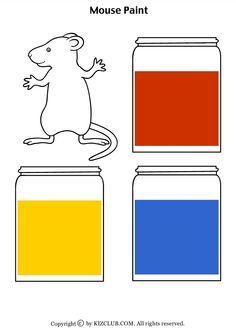 Preschool Books = Mouse Paint on Pinterest | Mice, Shape Activities ...