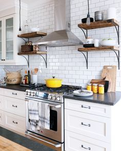 Take a peek inside Debbie Ellen and Alan Monkhouse 's home, who made a few small but significant changes to create a farmhouse industrial kitchen.