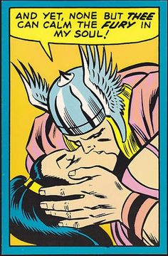 THOR KISSING SIF Marvel Third Eye black light card (1971) Even gods know the feeling of lust, romance and passion. who better than the god of Thunder, THOR, could show his beloved Lady Sif how much...