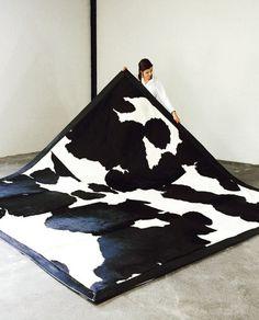 Berkshire Natural cowhide rug