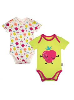 1a481d161c3c6 Lot de 2 bodies manches courtes bébé fille Fruity Body Bébé Fille