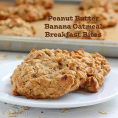 Peanut Butter Banana Oatmeal Breakfast Bites