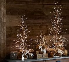 Lit White Berry Trees [Same sizes and prices as Red Berry] All Christmas | Pottery Barn