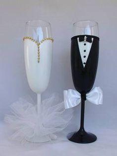 Ποτήρια Γάμου Σαμπάνιας Ζευγάρι 34.00€ Flute, Champagne, Tableware, Bottles, Weddings, Art, Art Background, Dinnerware, Tablewares
