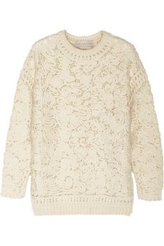 Stella McCartney | Crochet-knit sweater | NET-A-PORTER.COM