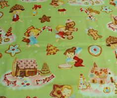 Angel Cakes-One Yard Premium Quality Cotton Print Fabric by Alexander Henry. $9.00, via Etsy.