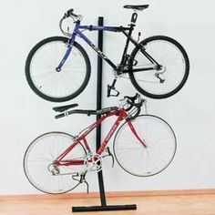 Gravity Bike Storage Rack by TreeTop Products. $102.63. Adjustable arms on the Gravity Bike Storage Wall Rack accommodate all frames. The bicycle racks function by gravity, simply lean it against a wall or mount two bicycle racks back-to-back.