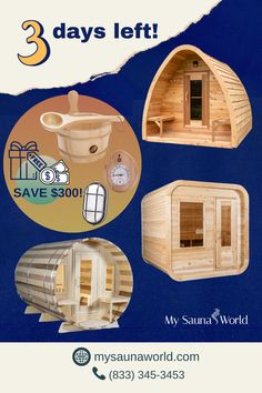 You still have three days to get a FREE Elite Accessories Package (worth $300) when you purchase ANY Dundalk Sauna. On October 1st, it will go back to its original price and need to be purchased separately. So don't forget to act before the week is over! Get a home sauna in your life NOW! #DundalkLeisurecraftSauna #OutdoorSauna #MySaunaWorld Sauna Lights, Wood Burning Heaters, Indoor Sauna, Barrel Sauna, Sauna Heater, Traditional Saunas, Real Fire, Temperature And Humidity, Wood Pieces