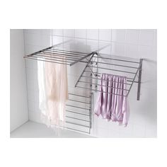 For laundry room IKEA GRUNDTAL drying rack, wall Adjustable to 3 positions. Simple to fold up when not in use. Laundry Storage, Room Makeover, Laundry Mud Room, Home Furnishings, Ikea Drying Rack, Laundry Room Inspiration, Ikea Laundry, Laundry, Rack Design