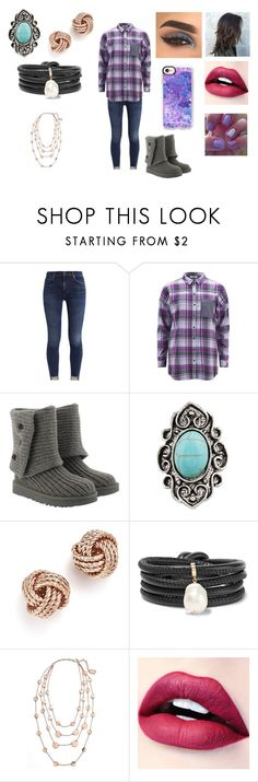 """""""All About Me Tag #9"""" by ocean-goddess ❤ liked on Polyvore featuring ONLY, UGG, Bloomingdale's, mizuki, Karine Sultan, BHCosmetics and Casetify"""