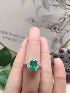 97bdc66801d fine jewelry 18k perfact Columbia natural emerald ring for women with  certification 6 8mm Fine or Fashion  Fashion Item Type  Rings Surface  Width  8mm Rings ...