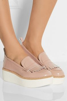 Flamingos | Wellington patent-leather platform loafers | NET-A-PORTER.COM