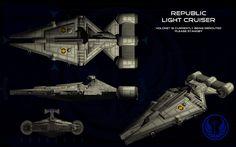 Republic Arquitens Light Cruiser ortho by unusualsuspex on deviantART