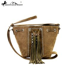 MW288-8111 Montana West Tassle Messenger Bag