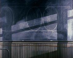 Norman Lundin, Studio Blackboard, oil on canvas, 48x60 1989