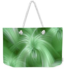 """Harmony With Earth Weekender Tote Bag (24"""" x 16"""") by Jenny Rainbow.  The tote bag includes cotton rope handle for easy carrying on your shoulder.  All totes are available for worldwide shipping and include a money-back guarantee."""