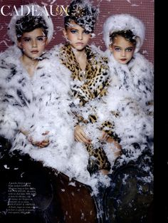 Cadeux, Vogue Paris Dec'10 - Jan '11,   Fantastic Editorial Satire on Christmas Gifts.  Photographer Sharif Hamza, Model Thylane Lena-Rose Blondeau