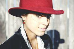 red earring (one) by Delettrez.