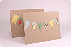 DIY Simple Banner/Bunting card