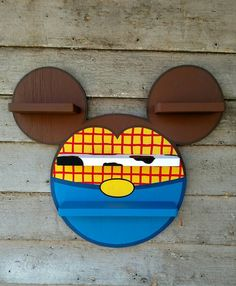 Wooden Life Signs on Etsy create custom and unique Disney shelving units. These are perfect for a kids room, a Disney room or a DCP dorm (hint hint mom). Toy Story Nursery, Toy Story Bedroom, Disney Bathroom, Bathroom Kids, Disney Home Decor, Disney Crafts, Boy Room, Kids Room, Disney Nursery