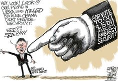 Cartoons About The GOP Forcing Bengazi to be a ScandalSelf Deprecate Political Humor