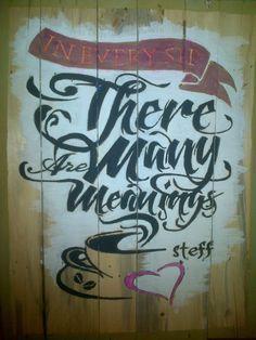 steff lettering #lettering #coffeeart #steffart #coffeeshop