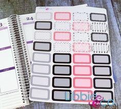 Pink Doodle Half Box Life Planner Die-Cut Stickers by Libbieandco