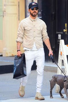 609edf6ed42 Justin Theroux on the street in New York City Best Dressed Man