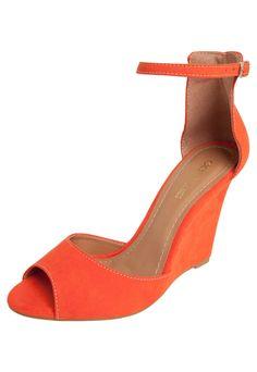 Sandália Anabela Dafiti Shoes Laranja - Marca DAFITI SHOES