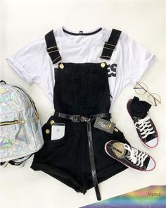 Dieser Look wurde mit viel besonderer Sorgfalt geschwenkt . - This look was panned with a lot of special care … – Dieser Look - Cute Comfy Outfits, Cute Casual Outfits, Edgy Outfits, Cute Summer Outfits, Retro Outfits, Teenage Girl Outfits, Teen Fashion Outfits, Cute Fashion, Outfits For Teens