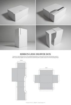 & DIELINES II: The Designer's Book of Packaging Dielines Ribbon-Less Drawer Box – FREE resource for structural packaging design dielinesBox (disambiguation) A box is a container or package, often rectangular or cuboid. Box or boxes may also refer to: Packaging Box Design, Packaging Dielines, Cool Packaging, Packaging Design Inspiration, Branding Design, Packaging Ideas, Package Design, Coffee Packaging, Bottle Packaging