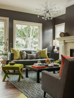 Mid-century-modern Living-rooms from Ann Lowengart on HGTV
