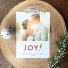 Celebrate all your first as married couples with a Newlywed Holiday card from Minted.