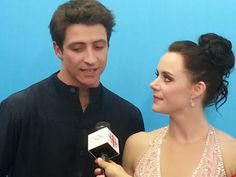 Post-skate interview with Scott Moir and Tessa Virtue. Virtue And Moir, Tessa Virtue Scott Moir, Medical Laboratory Scientist, Stars On Ice, Tessa And Scott, Olympic Champion, Olympics, Skate, Dancer