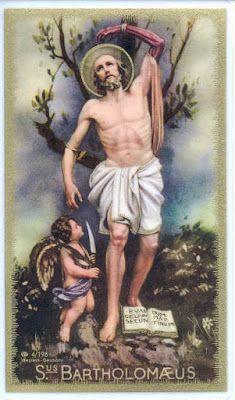 Santos, Beatos, Veneráveis e Servos de Deus: SÃO BARTOLOMEU, Apóstolo e Mártir (esfolado vivo)....
