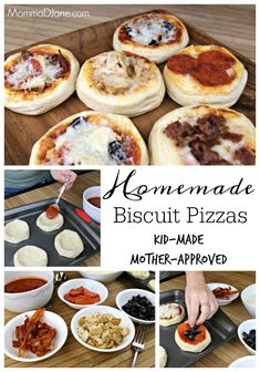 Homemade Biscuit Pizzas by Kids.  This simple recipe is fun to create with the family on pizza and movie night.  #ShareYourMiracles #MiraclesFromHeaven ad