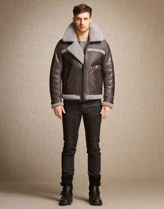 Reynold Jacket - Dark Grey/Light Grey Shearling Jackets